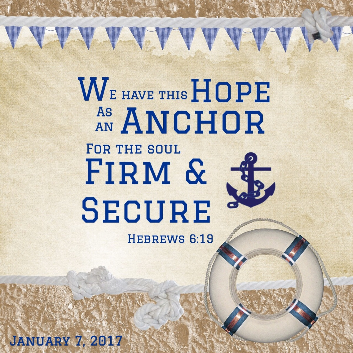 Anchored in God's Character and HisWord